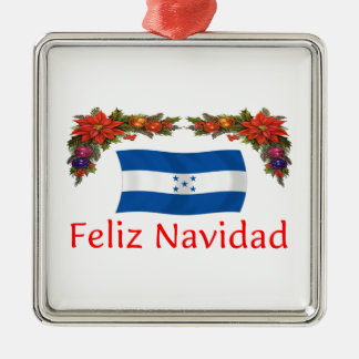 Honduras Christmas Silver-Colored Square Decoration