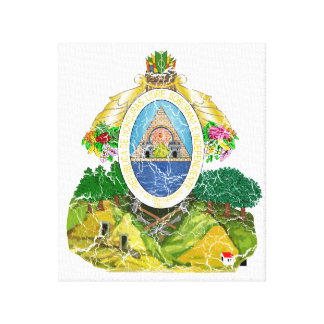 Honduras Coat Of Arms Gallery Wrapped Canvas