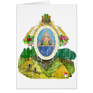 Honduras Coat Of Arms Card
