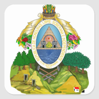 Honduras Coat of arms HN Square Sticker