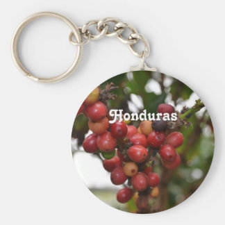 Honduras Coffee Beans Basic Round Button Key Ring
