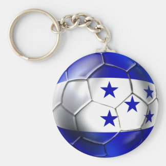 Honduras flag 5 star soccer ball futbol fans gifts basic round button key ring