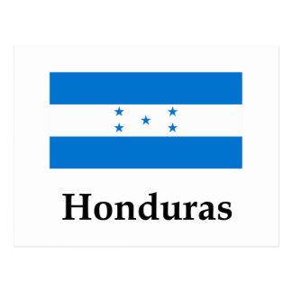 Honduras Flag And Name Postcard