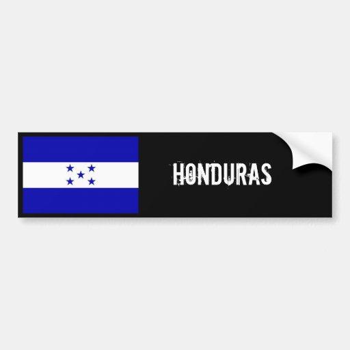 Honduras flag bumper black bumper stickers