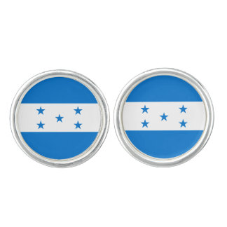 Honduras Flag Cuff Links