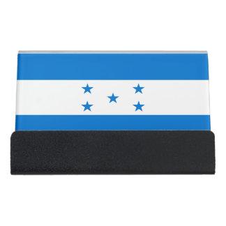 Honduras Flag Desk Business Card Holder