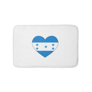 Honduras Flag Heart Bath Mats