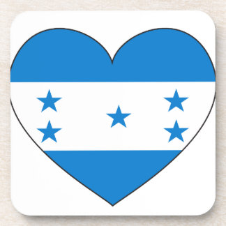 Honduras Flag Heart Coasters