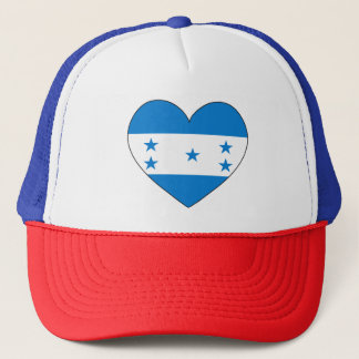 Honduras Flag Heart Trucker Hat