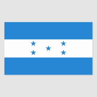 Honduras Flag HN Rectangular Stickers