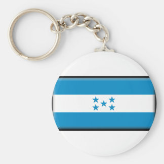 Honduras Flag Basic Round Button Key Ring