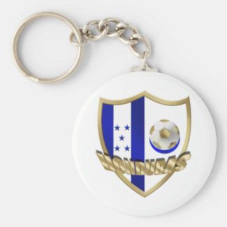 Honduras flag logo emblem La Catrachos Shield Basic Round Button Key Ring