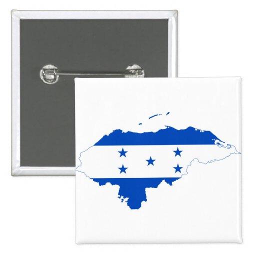 Honduras Flag Map HN Pinback Buttons