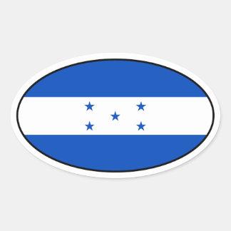 Honduras Flag Oval Sticker