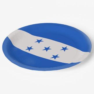 Honduras Flag Paper Plate