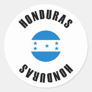 Honduras Flag Simple Classic Round Sticker