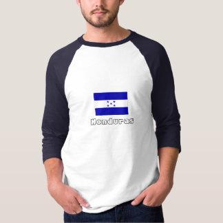 Honduras flag sleeve raglan tees