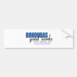 Honduras Good Works Car Bumper Sticker
