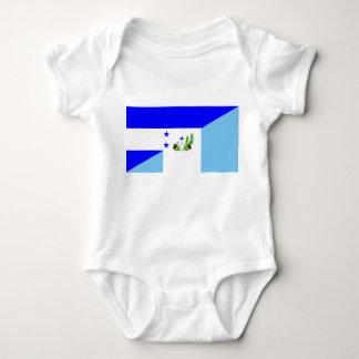 honduras guatemala country half flag symbol baby bodysuit