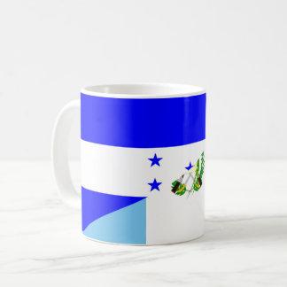 honduras guatemala country half flag symbol coffee mug