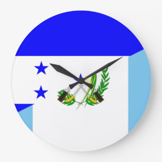 honduras guatemala country half flag symbol large clock