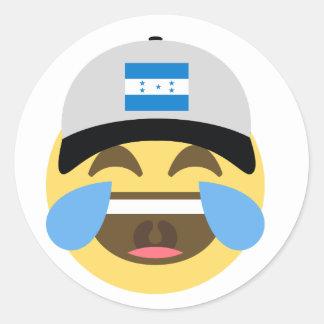 Honduras Hat Laughing Emoji Classic Round Sticker