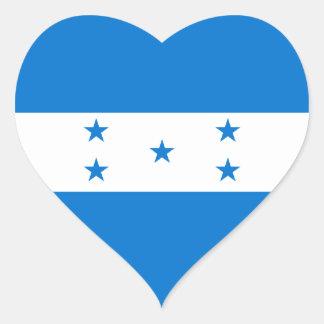 Honduras/Honduran Heart Flag Heart Sticker