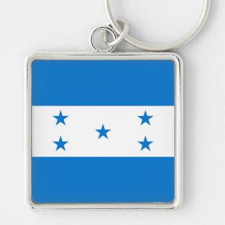 HONDURAS Silver-Colored SQUARE KEY RING