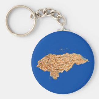 Honduras Map Keychain