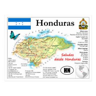 Honduras Map Postcard