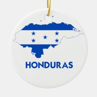HONDURAS MAP ROUND CERAMIC DECORATION