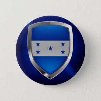 Honduras Metallic Emblem 6 Cm Round Badge