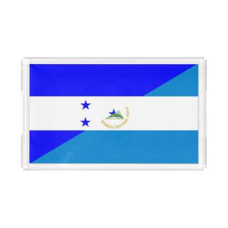 honduras nicaragua country half flag