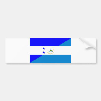 honduras nicaragua country half flag bumper sticker