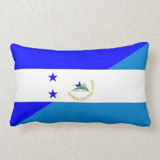 honduras nicaragua country half flag lumbar pillow