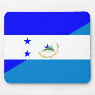 honduras nicaragua country half flag mouse pad