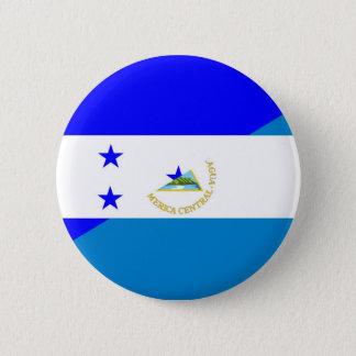 honduras nicaragua half flag country symbol 6 cm round badge