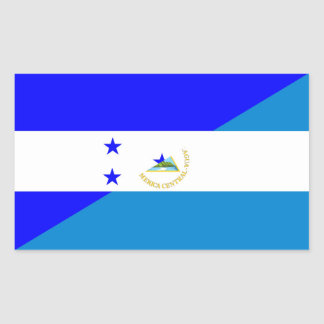 honduras nicaragua half flag country symbol rectangular sticker