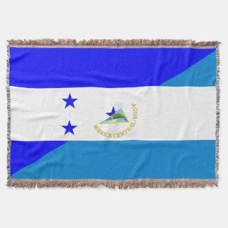 honduras nicaragua half flag country symbol throw blanket
