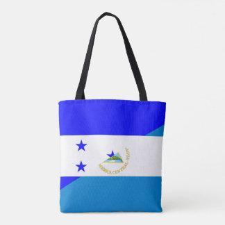 honduras nicaragua half flag country symbol tote bag