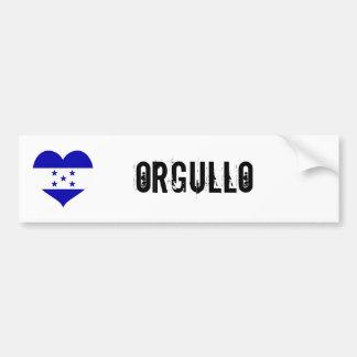 Honduras Orgullo(pride) Car Bumper Sticker