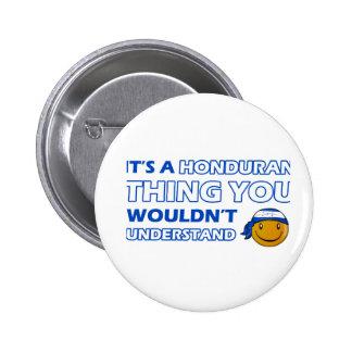 honduras Smiley Designs Buttons