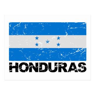 Honduras Vintage Flag Postcard