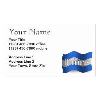 Honduras Waving Flag Business Card Template
