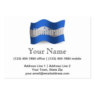 Honduras Waving Flag Business Card Templates