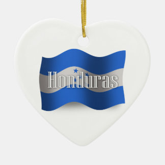 Honduras Waving Flag Ceramic Ornament
