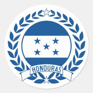 Honduras Wreath Classic Round Sticker
