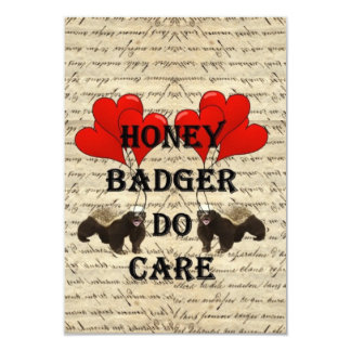 Hone badger do care 9 cm x 13 cm invitation card