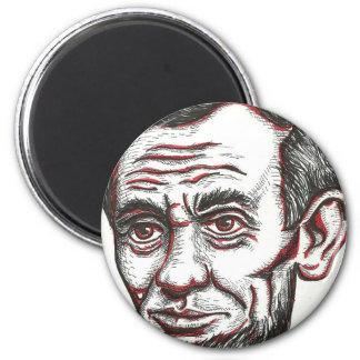 Honest Abe 6 Cm Round Magnet