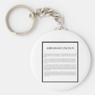 Honest Abe alternate layout Key Chains